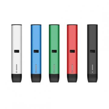 High Quality Buttonless Metal Round Tip Ceramic Coil Cbd Disposable Vape Pen. 5ml